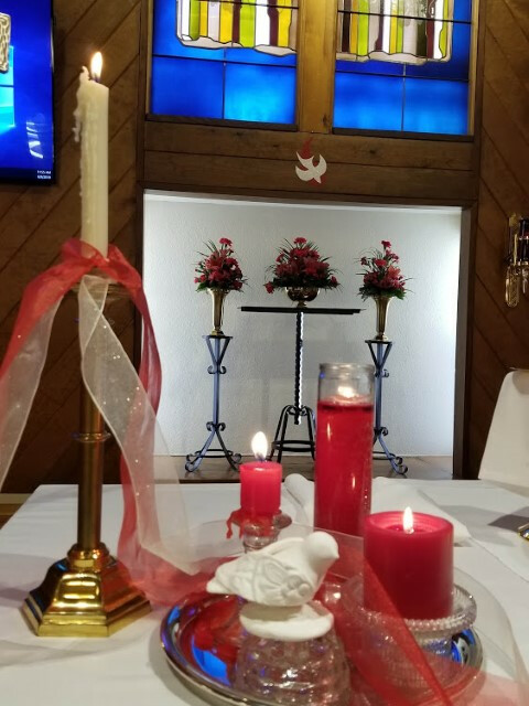 june 9, 2019 pentecost sunday candles on the altar