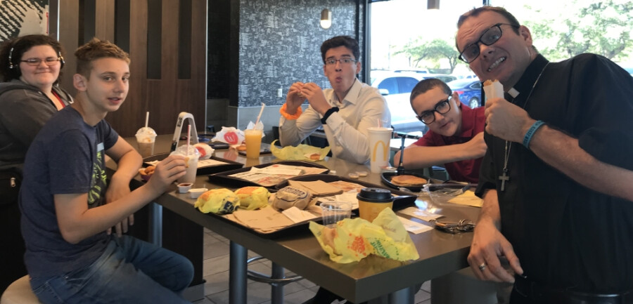 2019 Reformation Sunday youth at Mc Donalds with Pastor Paul IMG_7404